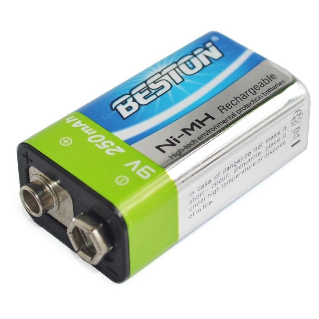 Pila Beston Recargable Batería 9 Voltios 250mah
