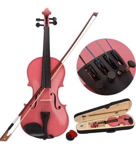 Violin Acustico 1/2 Con Resina De Arco Para Niños Y Niñas