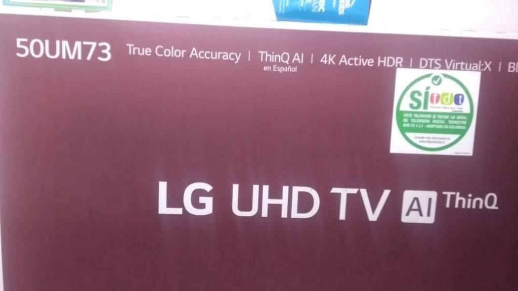 tv de 50 LG 4K nuevo y con factura y garantia 1 año