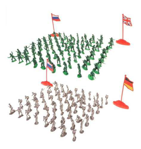 400 Piezas 2 Cm Juguete De Plástico Soldado Figuras Ejérci