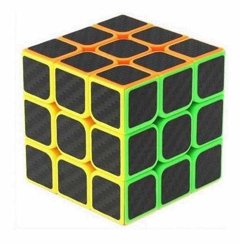 Cubo Mágico Carbono 3x3 Juego Rubik Rompecabezas Sh6602