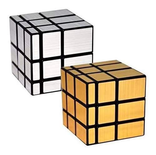 Cubo Rubik Espejo Inteligente 3x3 Mirror Plateado Dorado