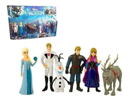 Frozen Figuras X6 Juguete Colección Juguetería Muñecos