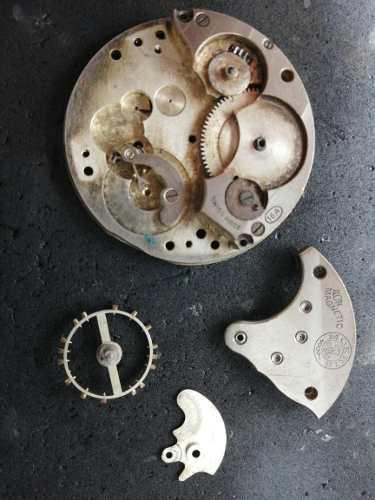 Partes Reloj Ferrocarril De Antioquia 16a Swiss Made