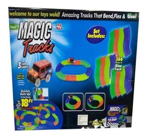 Pista Magic Tracks Flexible Brilla En La Oscuridad 96piezas