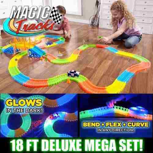 Pista Magic Tracks Set 360 Piezas 2 Carros + Puente