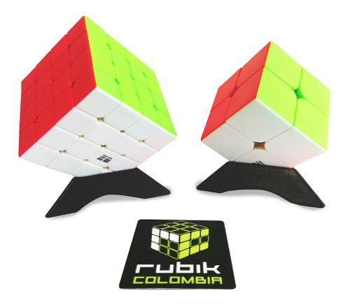 Rubik Colombia Qiyi Pack 2 Cubos 2x2 Y 4x4 Envio Gratis