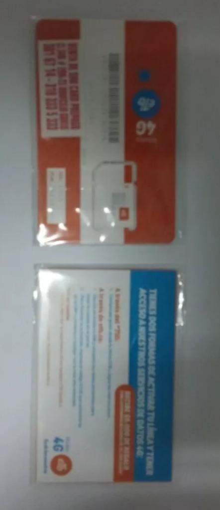 Sim Card con 4 Gb 480 Minutos Redes Ilim