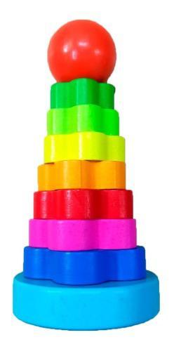 Torre Armable De Hanoi Juguetes De Madera Didacticos