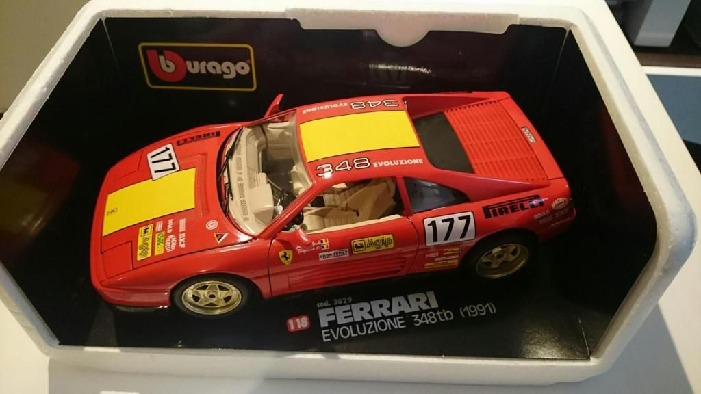 Burago Ferrari 348 tb evoluzione 1/18