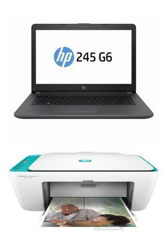 Combo Portatil Hp 245 G6 + Impresora Hp 2675 + Maletin