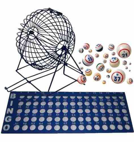 Kit De Bingo, Balotera 32cm, Balotas Y Tablero Control