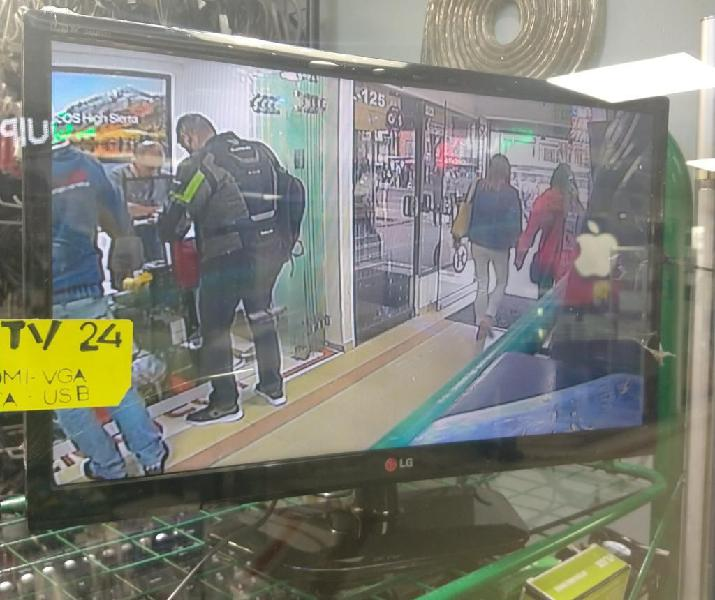 Televisor Monitor Hdmi Y Vga 24 Pulgadas