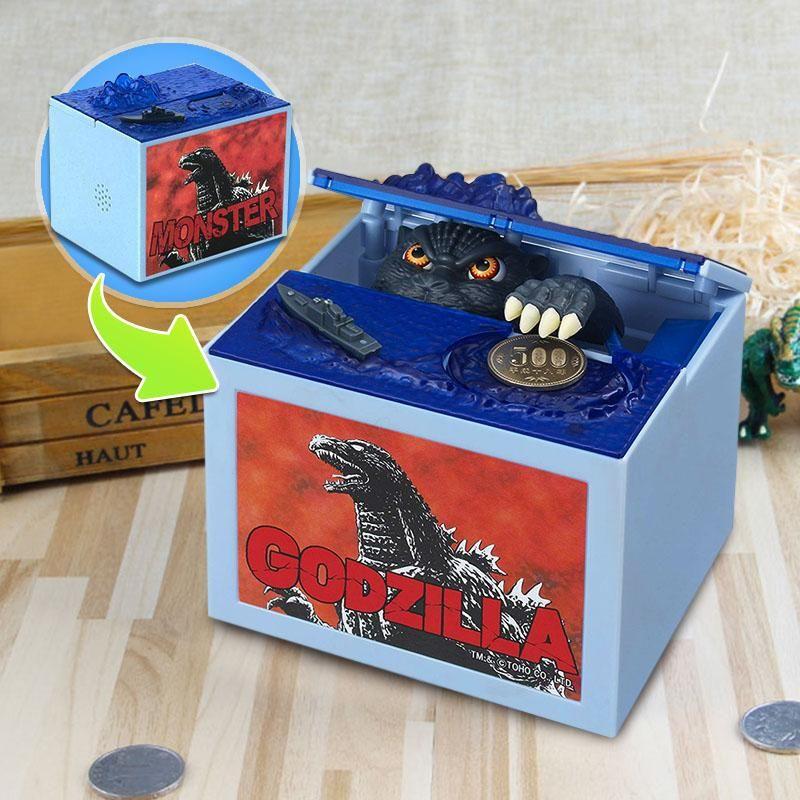 Alcancía Electrónica Godzilla Roba Monedas Con Sonidos RF