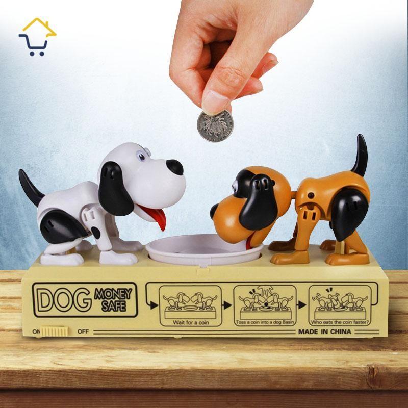 Alcancía Electrónica Perros Come Monedas Con Sonidos RF