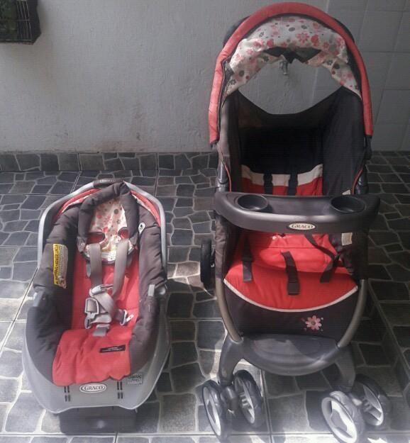Coche Y Silla para Bebé Niña Marca Graco