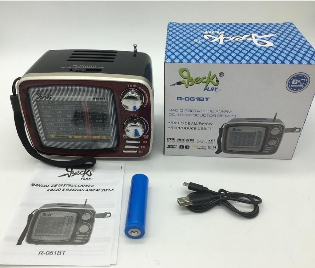 Radio Portátil Retro Beckplay R061bt