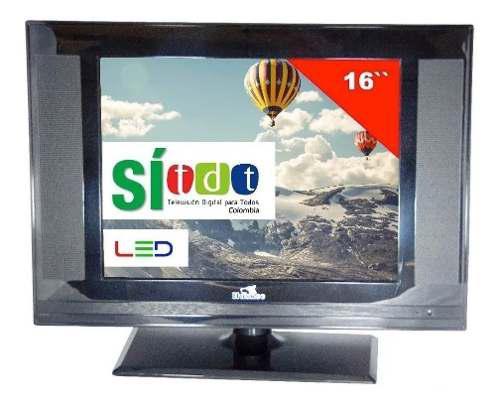 Televisor Huskee Tv 16 Pulgadas Con Tdt Monitor 12v/110v