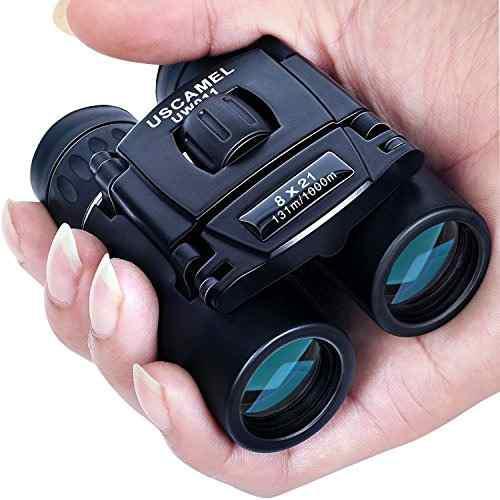 Uscamel Binoculares De Bolsillo Plegables Mini Telescopio De