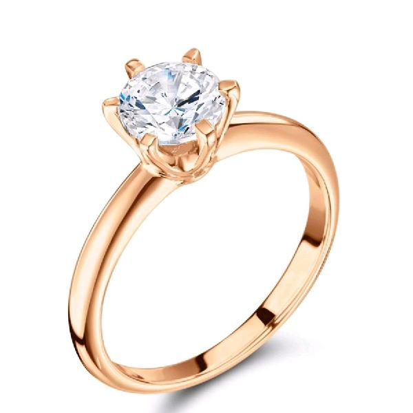 Anillo oro rosa 18k Compromiso Matrimonio Exclusivo Joya
