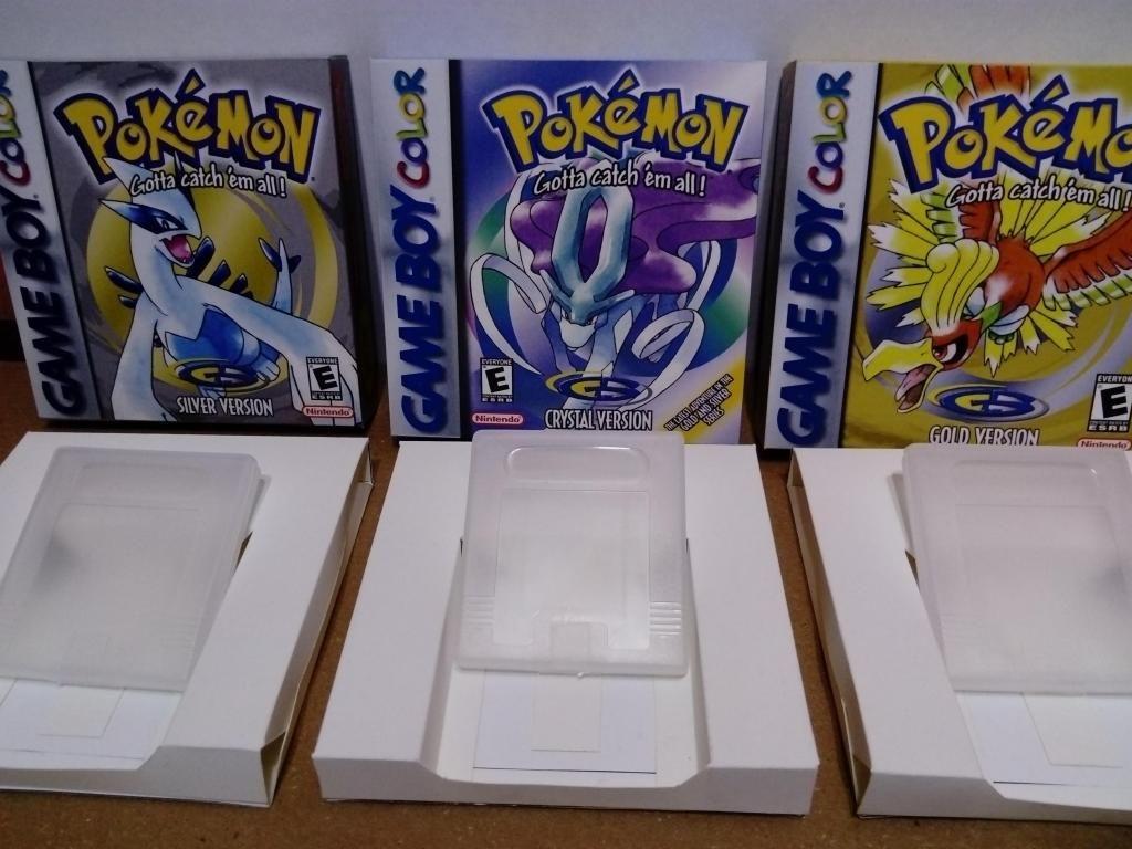 Cajas juegos Game boy Cuna y protector de plastico