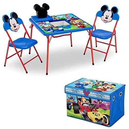 Delta Juego De Muebles Para Niños 4 Piezas Mesa De Almacena