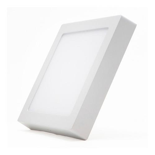 Panel Led 18w Cuadrado Sobreponer Luz Blanca O Calida
