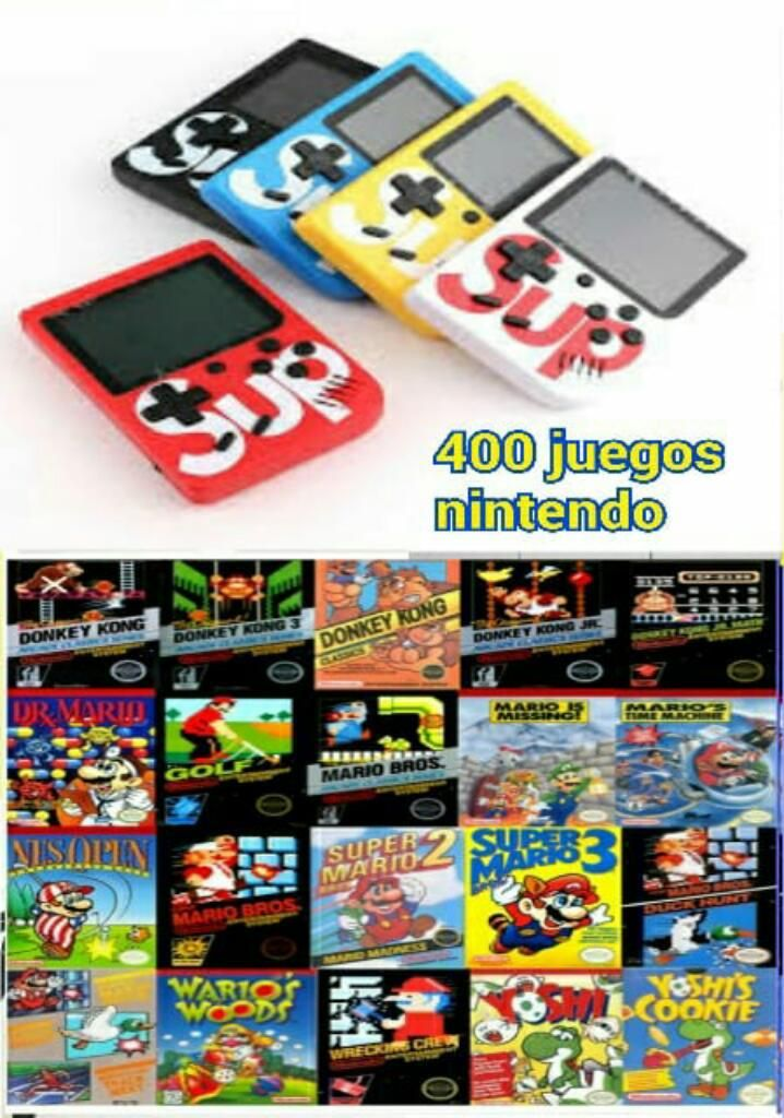 Promocion Consola Portatil Juegos Retro