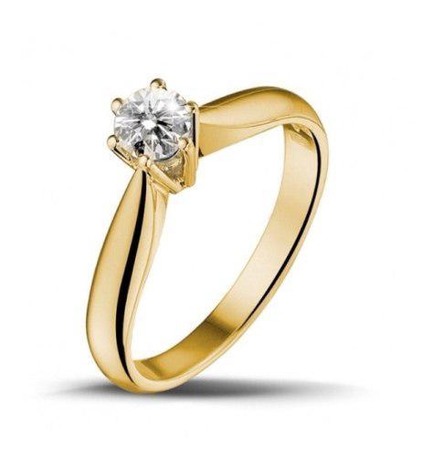 Anillo Compromiso Diamante 0.20 Kilates