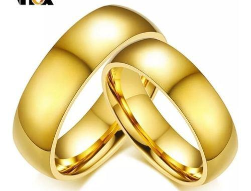 Anillos Argollas De Matrimonio Boda En Acero Inoxidable