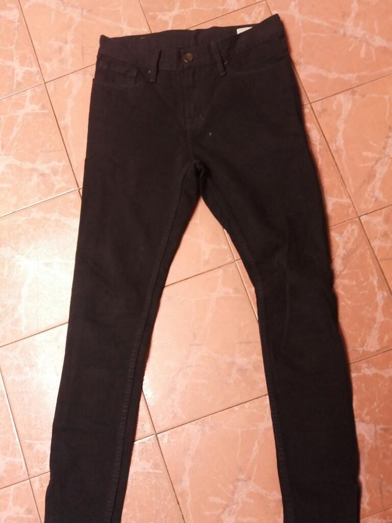 Jean Pantalon Negro Slim