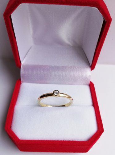 Oferta Mes Anillo Compromiso Oro 18 K Diamante Certificado