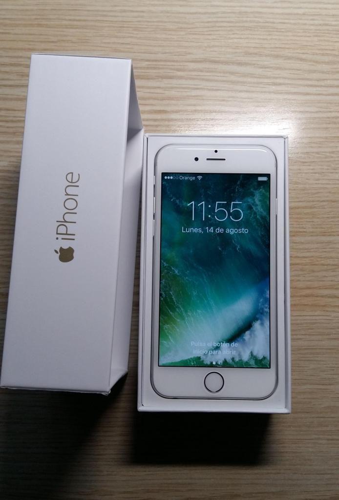 iphone 6 en caja de 16 gigas estado como nuevo tien un