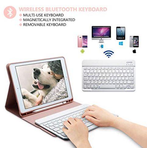 Carcasa con teclado para iPad Pro 9,7, iPad th Gen,