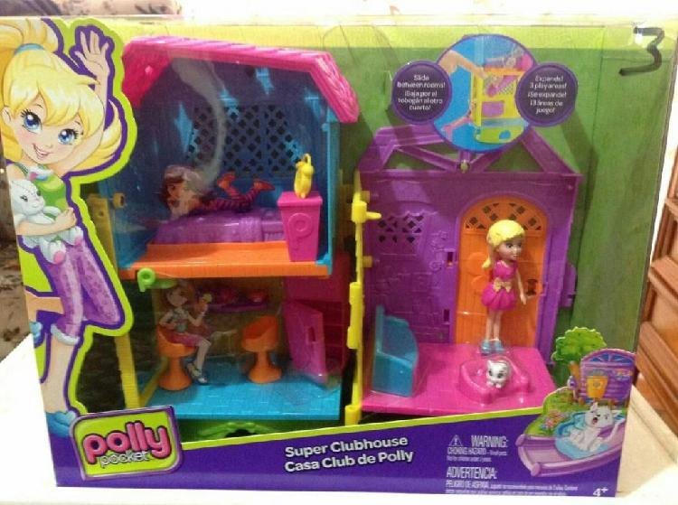 Set Polly Pocket Casa Club Marca mattel. muñeca juguete