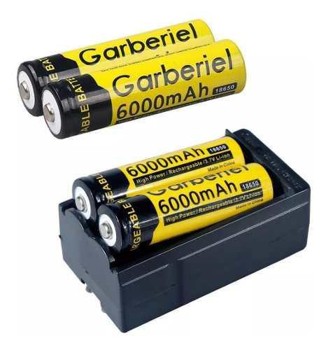 4pcs 18650 Cargador Dual Baterías Recargables 3.7v Li-león