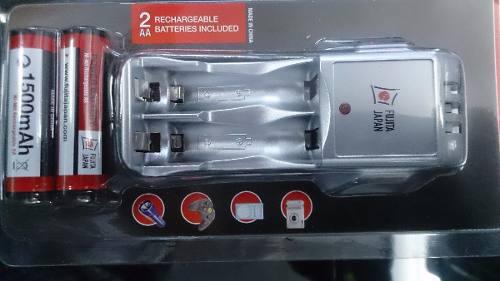 Cargador Batería Doble Aa Triple A Incluye 2 Pilas Aa