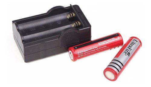Cargador De Baterías 18650 + 2 Pilas Recargables 18650 Brc