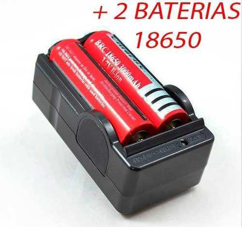 Cargador De Baterias 18650 X2 +2 Pilas Recargables Ultrafire