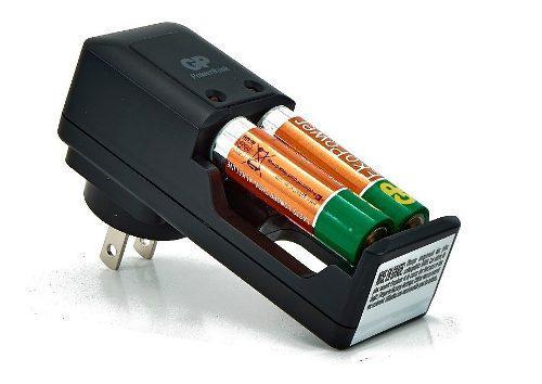 Cargador De Pilas Gp Ekopower 2 Baterías Aa 1050mah