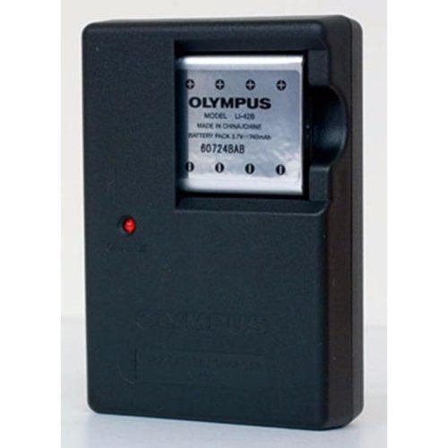 Combo Pila Bateria Li42 Li-42 + Cargador Para Camara Olympus