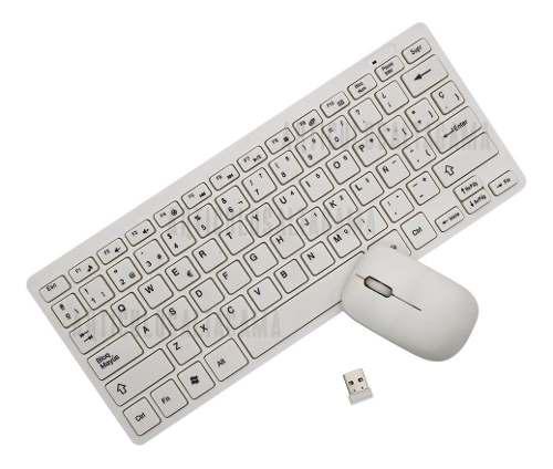 Kit Mini Teclado + Mouse Óptico Inalámbrico Para Pc Mac
