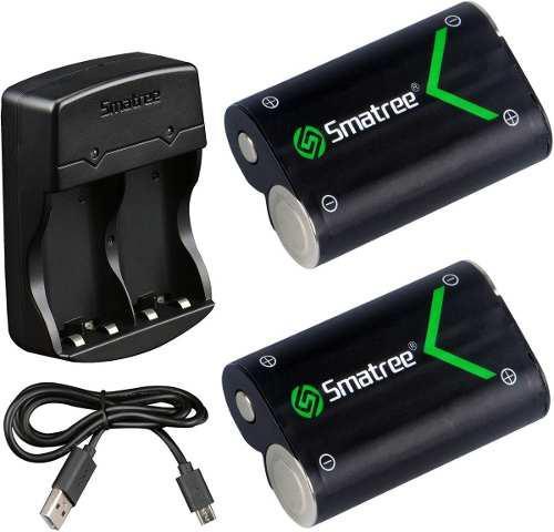 Pilas Recargables Y Cargador De Baterias Xbox, Negro