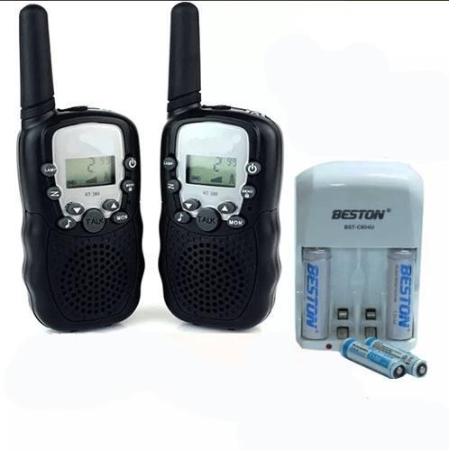 Radio Portátil Walkie Talkie + S1 Cargador Pilas Bateria