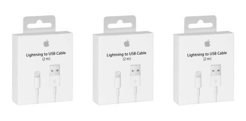 3 Cables 2 Metros Lightning 100% Original iPhone 5, 6, 7 8 X