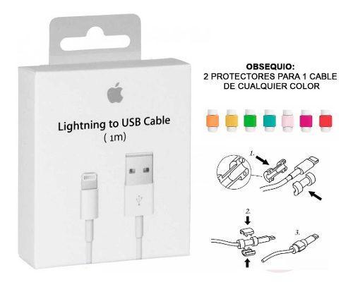 Cable Cargador Lightning iPhone 5 6 7 8 X Original + Regalo