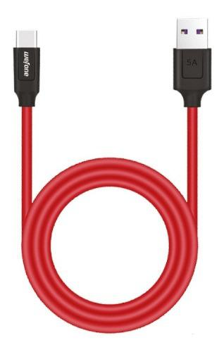 Cable Datos Rápido Wefone Original Usb Tipo C 1 Mt Rojo