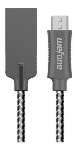 Cable Datos Samsung Huawei Wefone Micro Usb 1 M Nylon Gris