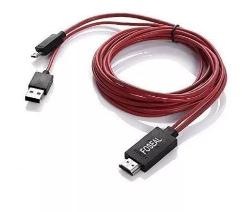 Cable Micro Usb A Hdmi Mhl A Hdmi 6.5pies! Entrega Inmediata