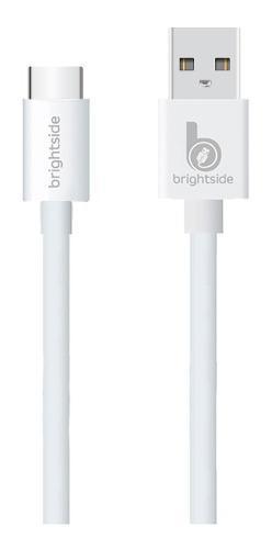 Cable Silicona Tipo C Brightside Carga Rápida 2.4a 1 Mt